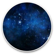 2 x Vinyl Stickers 25cm - Blue Space Sky Nebula Stars  #44395