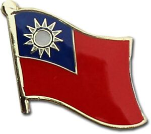 Wholesale Pack of 3 Taiwan Country Flag Bike Hat Cap lapel Pin