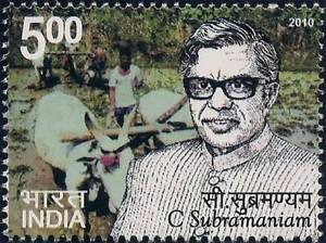 India 2010 C Subramaniam Agriculture Farming stamp 1v MNH