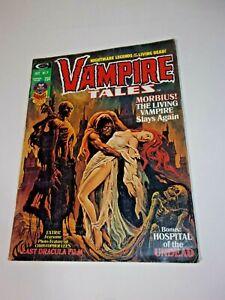 VAMPIRE TALES #7 Comic Magazine 1974  MORBIUS Hospital of Undead DRACULA Devil