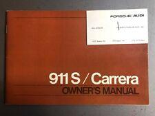 1975 Porsche 911S & 911 Carrera Owner's Manual RARE!! Awesome L@@K