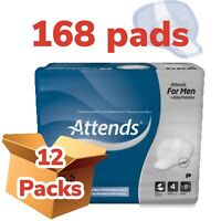 Attends For Men Level 4 Shield- 12 Packs Of 14 Incontinence 168 Pads 205976  Pad