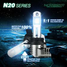NOVSIGHT 9012 HIR2 LED 50W 10000LM Headlight Bulbs Kit DRL Fog Lamps 6500K White