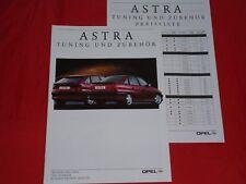 OPEL Astra F Tuning und Zubehör Prospekt + Preisliste von 1992