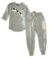 Puma Big Girls' 2-Pcs Set Jogger Pants And T-Shirt