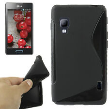 CUSTODIA COVER Per LG OPTIMUS L5 2 II E460 Silicone MORBIDO NERO BLACK TPU CASE