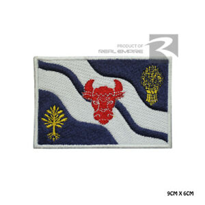 OXFORDSHIRE County Flag Iron On Sew On Embroidered Patch Badge For Clothes etc