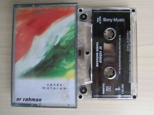 AR RAHMAN VANDE MATARAM CASSETTE TAPE, 1997 SONY MUSIC, MADE IN INDIA, TESTED.