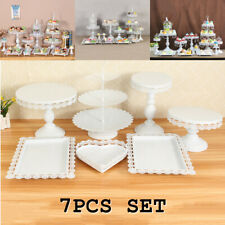 "7Pcs/set 16.5"" Crystal Cake Holder Cupcake Stand Wedding Birthday Party Decor"