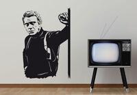 Wandtattoo Steve McQueen Wandbild Wanddeko Poster Aufkleber Wandfolie Wanddekor