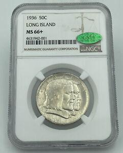 1936 Long Island Commemorative Half Dollar NGC & CAC MS66+