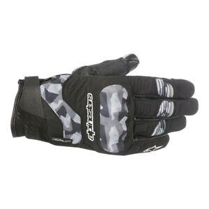 Alpinestars C-30 Drystar Motorcycle Waterproof Textile Short Gloves - Black Camo