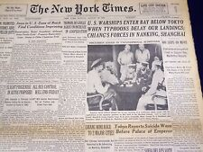 1945 AUGUST 26 NEW YORK TIMES - U. S. WARSHIPS ENTER BAY BELOW TOKYO - NT 509