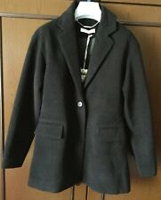 Coat baby TO BE TOO black, size 38, with two pockets Cappotto bimba, colore nero