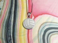 Collana con Pendente Pallone Pallavolo Gioiello Argento Volley IdeaRegalo