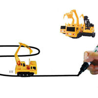 Inductive Truck Model Follow Any Line Drew by Magic Pen Kids Inductive Toy 2019