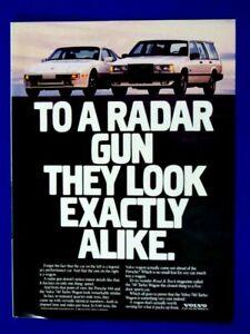 "1988 Intercooled Turbo Radar Gun Looks Same Original Print Ad-8.5 x 11"" 1 PAGE"