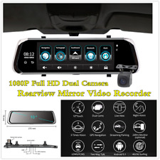 FHD 4G 10In Touch Car Rearview Mirror Video Recorder Dual Cam Bluetooth WiFi GPS