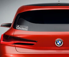 White Dash Cam Warning Camera Recording Car Window Bumper Sticker Vinyl Decal