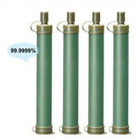 4x Military 99.99% Water Filter Purification Emergency Gear Purifier Straw Hike