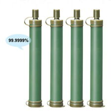 4pcs Military 99.99% Water Filter Purification Emergency Gear Purifier Straw