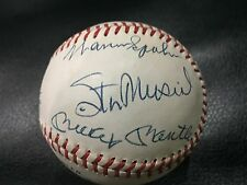 OFFICIAL HALL OF FAME AUTOGRAPHED SIGNED OML BASEBALL MANTLE MUSIAL 12 HOF GAI