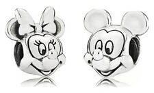 Sterling Silver Minnie And Mickey Mouse Charm Set S925 ALE DISNEY Suits Pandora