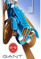 Reproduction Motor Racing Poster, Le Mans 24 Hour - Gant, Home Wall Art