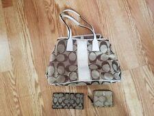 Coach Purse Handbag Shoulder Bag/Wallet/Checkbook Style J0971-F13533 Brown Beige