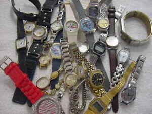 Lot of 20 + Vintage GOLD PL antique Art Deco Lady SWATCH SEIKO + watch watches