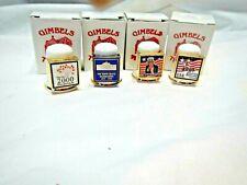 4 English Bone China Gimbels Thimbles In Original Boxes