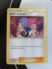 Jessie & James 58/68 Hidden Fates Rare Holo Pokemon Card NM