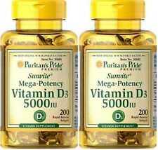 2X Vitamin D3 5000 IU x 200 (400) Softgels High Potency Strength - 24HR DISPATCH
