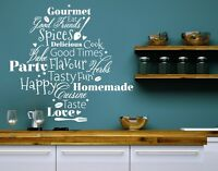 Kitchen Words - Highest Quality Wall Decal Sticker