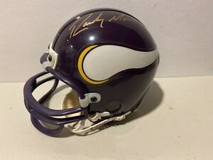 Randy Moss Signed Minnesota Vikings Mini Helmet Upper Deck