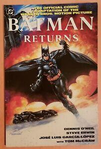 BATMAN RETURNS: THE OFFICIAL COMIC ADAPTATION ~ VF 1992 DC COMICS DELUXE EDITION