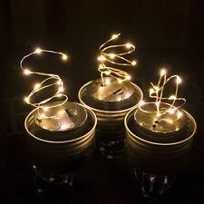 Shinning 1M 2M LED Fairy Light Mason Jar Lid Lights Changing Garden Decor