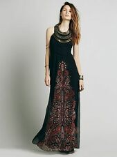 FREE PEOPLE Demeter Metal Beaded Bib Maxi Gown Dress Size 2 NWT $400