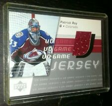 2003 Upper Deck PATRICK ROY Game Used Jersey Card 03 UD - Colorado Avalanche