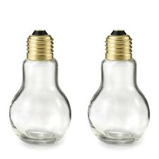 Light Bulb Salt And Pepper Storage Dispenser Container Mill Millers Shaker Set