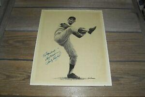 Sandy Koufax Autographed Sepia Landsman Print - 11 x 14 - Personalized - MLB HOF