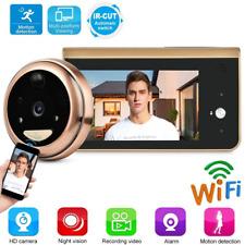 Tangxi Wifi Digital Door Viewer,Wireless Video Doorbell,Peephole Viewer 4.3 Inch