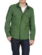 Diesel Jarmatocer Mens Military Army Green Lamb Elbow Patch Field Jacket Coat XL