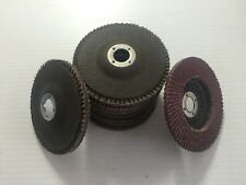 "10x 4 "" 60 Grit Flap Sanding Grinding Discs 4"" 5/8"" Angle Grinder Wheels"