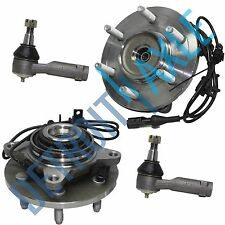 NEW Front Driver & Passenger Wheel Hub and Bearing 4WD w/ ABS + 2 Tie Rod - 4x4