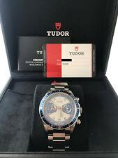 Tudor Heritage Monte Carlo Chrono Blau 70330B Opline/Ziffernblatt Blende Neu