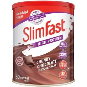 SlimFast High Protein Meal Replacement Chunky Chocolate   50 Servings   1.825 Kg