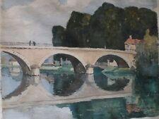 Julius Maximilian Delbos - Multy Museum Artist *Original Watercolor*