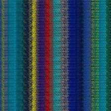NORO ::Kureyon #369:: wool knitting yarn Blues-Greens-Red-Lemon