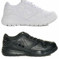 Boys Girls Kids Fila Side By Side Uniform All White Black Med or Wide Shoes